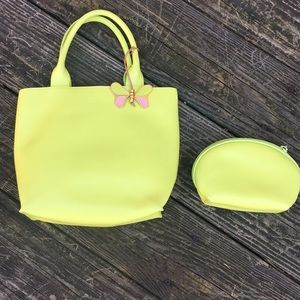 Brand New! Furla bag lime green with case